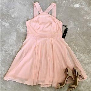 Pink LuLu's Mini Skater Dress